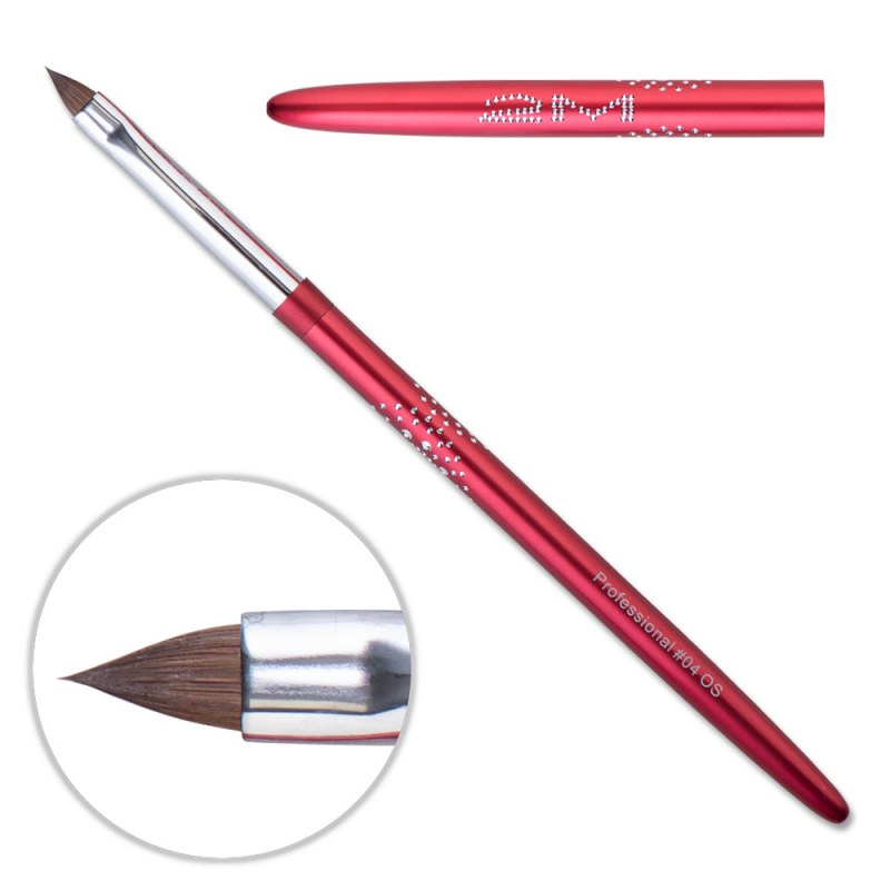 Pensula Acryl 2M Red - ascutit nr. 04OS thumbnail
