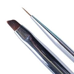 Pensula nail art 2M White cu doua capete