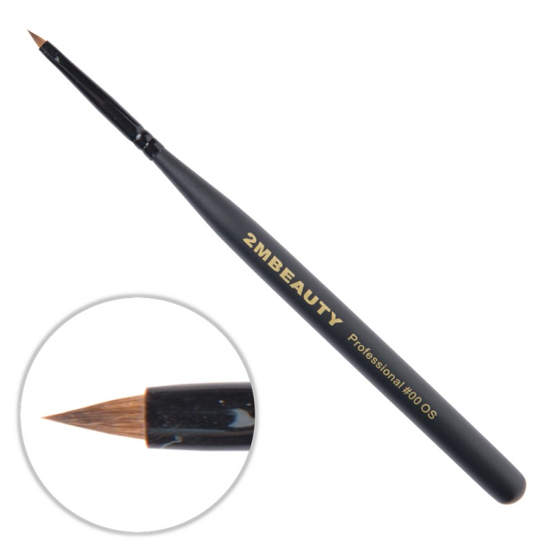Pensula Acryl 2M Black Beauty Ascutit Nr. 00OS thumbnail