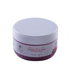 Manicure Spa Gel Scrub Energizing Red Jojoba Beads - 150gr