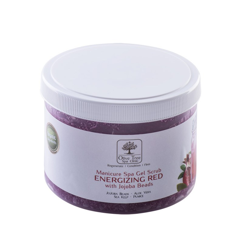 Manicure Spa Gel Scrub Energizing Red Jojoba Beads
