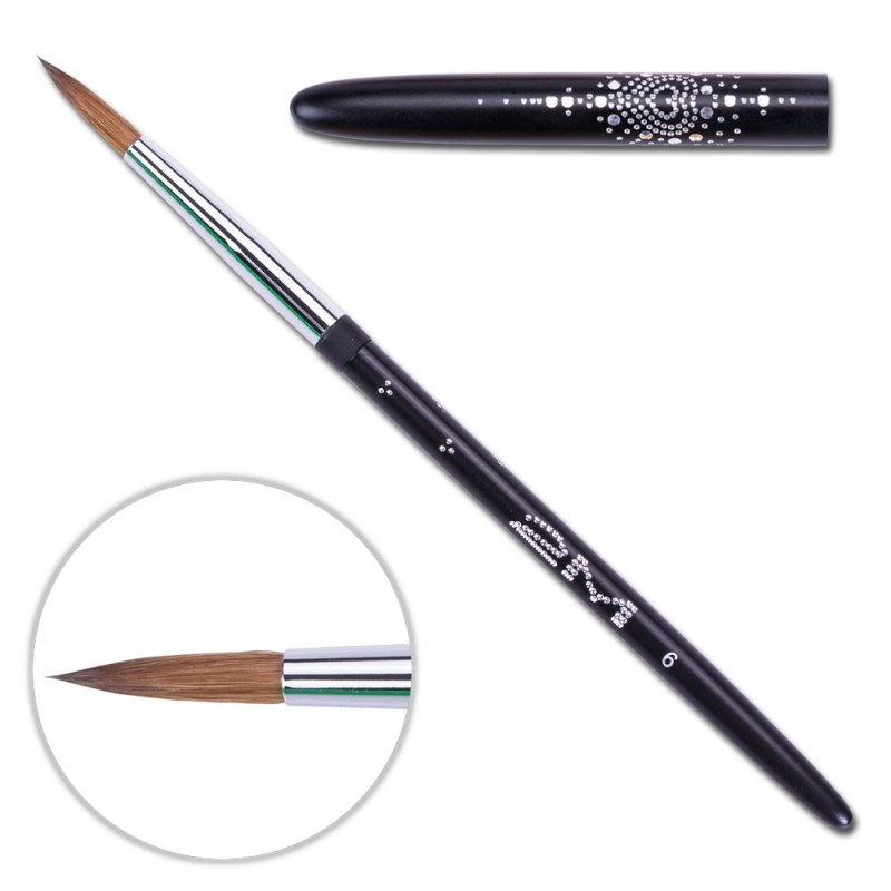 Pensula Acryl 2m Black - Rotund Nr. 6