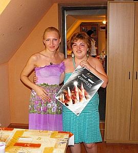 Valentina Denisenko si Mogyorosi Erika dupa curs